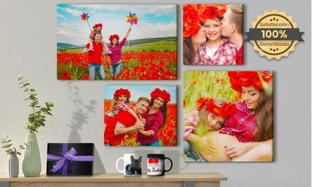Fotolibro, fotolienzo o fototaza personalizables de formato a elegir con Printerpix (hasta 95% de descuento)