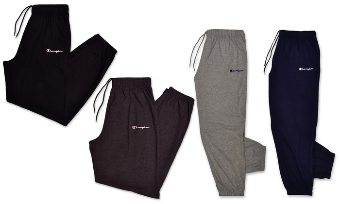 5ab3ccfb Champion Men's Jersey Sweatpants. Big & Tall Sizes Available. | Groupon