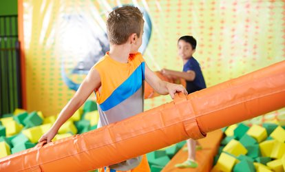 image for 3 or 5 Open-Jump Visits or Party Package for Up to 15 <strong>Kids</strong> at Pump It Up Fort Worth (Up to 48% Off)