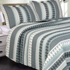 Printed Reversible Bedding Quilt and Shams Set (3-Piece)