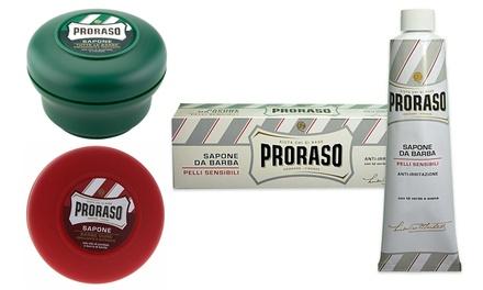 3 o 6 confezioni di prodotti da rasatura Proraso disponibili in varie tipologie