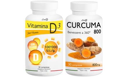 : 180 caps Curcuma 800 e 180 caps Vitamina D