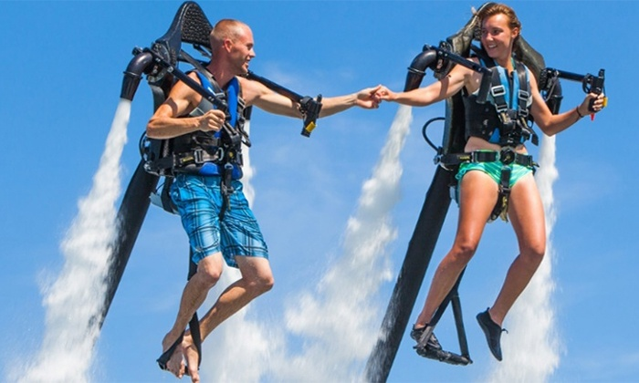 Captain CJ's Jet Pack Adventures - Ft Myers - Multiple Locations: $149 for a 30-Minute Water-Propelled-Jetpack Session at Captain CJ's Jetpack Adventures ($300 Value)