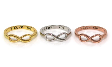 Hidden I Love You Message Solid Sterling Silver Ring