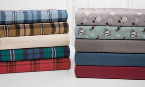 Wexley Home 100% Cotton Flannel Sheet Set at Elite Home Products, plus 6.0% Cash Back from Ebates.
