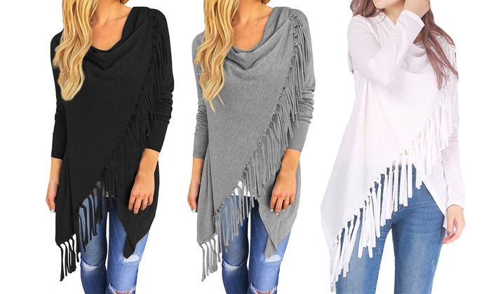 Women's Fringed Wrap-Style Cardigan From £7.99