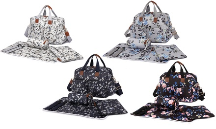 Flower or Bird Print Maternity Bag