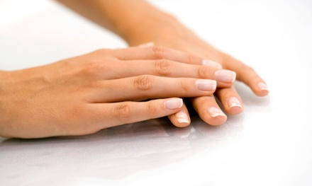 Two Shellac Manicures or a Shellac Manicure and Express Pedicure at Charleston Nails & Spray Tan (50% Off)
