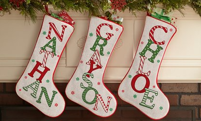 image for One, Two, or Three Personalized Stockings from <strong>Personal</strong> Creations (Up to 57% Off)