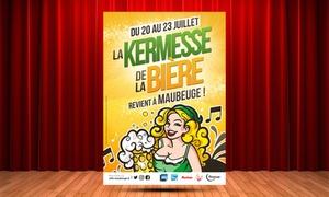 Commune De Maubeuge: 1 ou 2 places pour un concert au choix du 20 au 23 juillet 2017, dès 15,90 € à la Kermesse de la Bière à Maubeuge