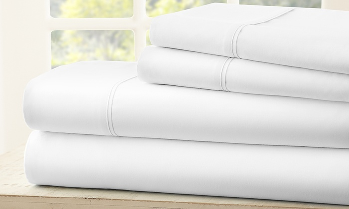 ... Microfiber Merit Linens Bed Sheets Sets (4 Piece) ...