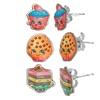 Shopkins Kids' Earrings Set (3-Piece)