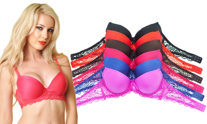 41f26f2457b67 Angelina Padded Lace Bras (6-Pack)
