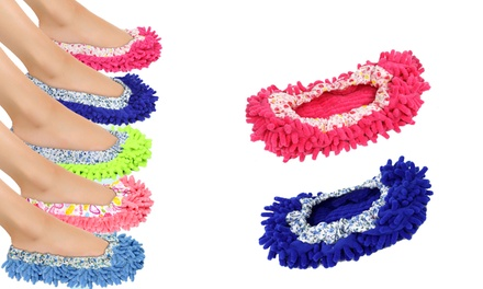 One or Two Pairs of Petal Design Mop Slippers