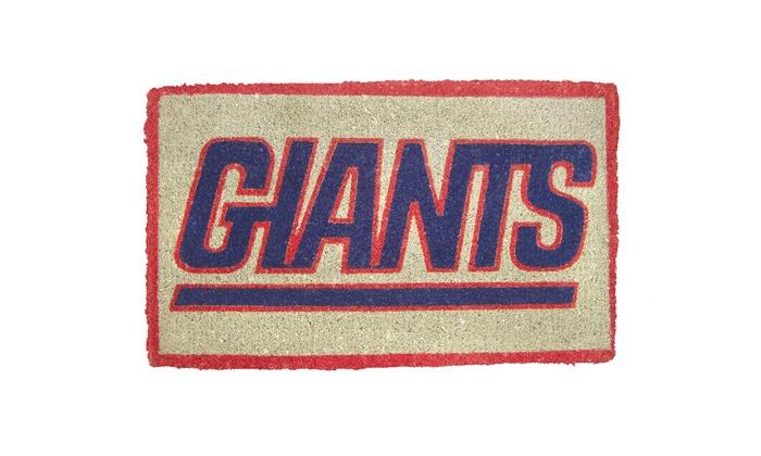 New York Giants Coir Welcome Mat: New York Giants Coir Welcome Mat