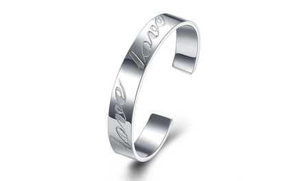 Solid Sterling Silver Mother's Day Love Bangle