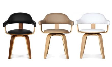 1, 2 ou 4 chaises design pivotantes simili cuir