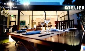 Restaurant Atelier Cocina & Cava: Desde $569 por cena gourmet de 3 pasos para dos, cuatro o seis personas en Restaurant Atelier Cocina & Cava