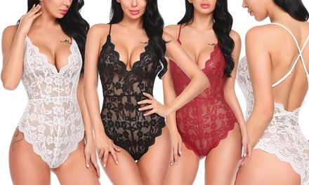 Plunging Lace Bodysuit