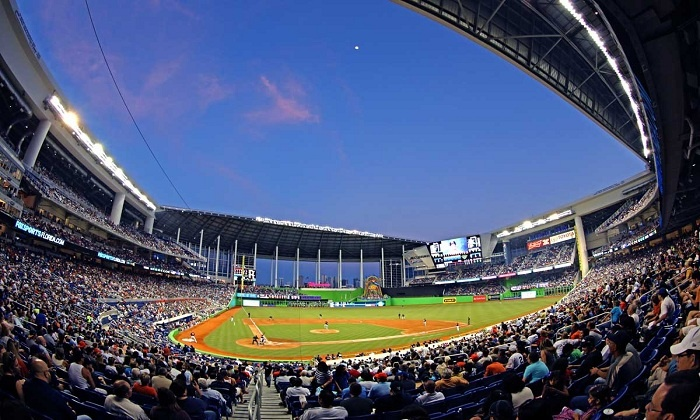 Miami Marlins vs. New York Yankees - Marlins Park: Exclusive Presale: Marlins vs. Yankees, Cigars, Open Bar, and Buffet at The Clevelander at Marlins Park (Up to 44% Off)
