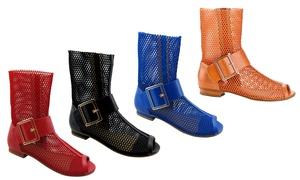 Charming Women's Slip-On Mesh Gladiator Sandals