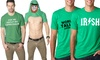 Men's Saint Patrick's Day Graphic and Flip-Up Tees: Men's Saint Patrick's Day Graphic and Flip-Up Tees