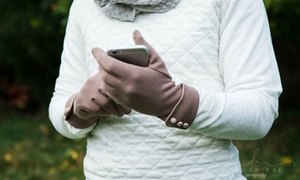 Women's Touchscreen-Compatible Fleece Gloves