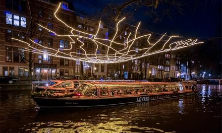 Amsterdam Light Festival: rondvaart met Rederij Lovers, vertrek vanaf 3 locaties in het centrum