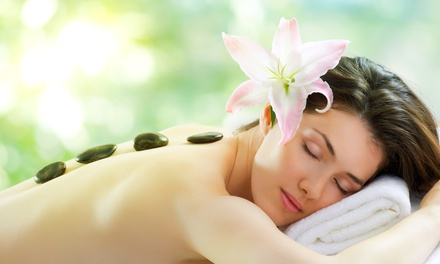 $50 for a 75-Minute Hot-Stone Massage with Hot, Herbal Towel Facial Treatment ($100 Value)