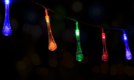 Solar Raindrop String Fairy Lights from £5.99