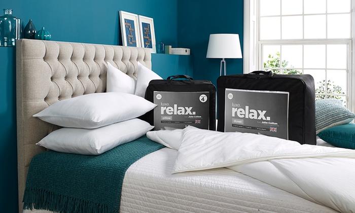 john-cotton-relax-duvet-four-pillow-set