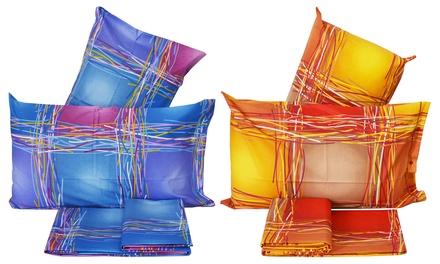 1 o 2 completi lenzuola, teli arredo o parure copripiumini Made in Italy disponibili in 3 misure e 2 colori
