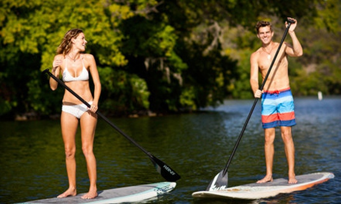 Austin Paddle Sports - Bouldin: Four or Eight 1-Hour Standup-Paddleboard Rentals from Austin Paddle Sports (Up to 63% Off)