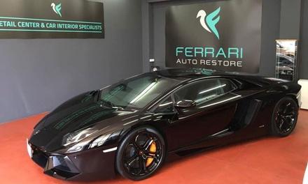 Lavaggio auto con applicazione cera oppure buono sconto da 50 € al Ferrari Auto Restore (sconto fin a 90%)