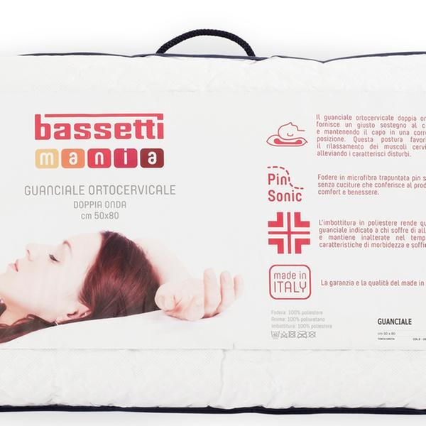 Guanciali in Mmemory Bassetti disponibili in 4 modelli