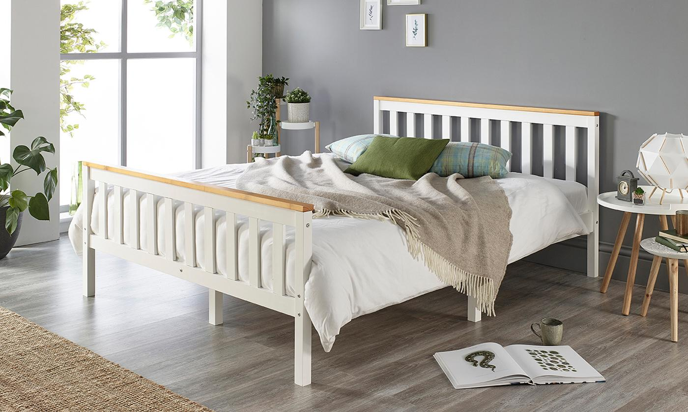 Solid Wood Shaker Bed Frame from £60 (59% OFF)
