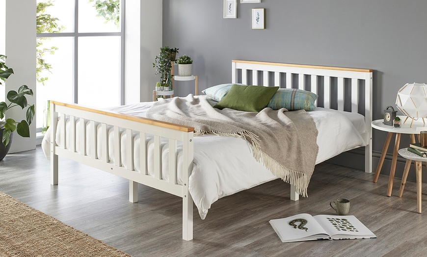 Solid Wood Shaker Bed Frame