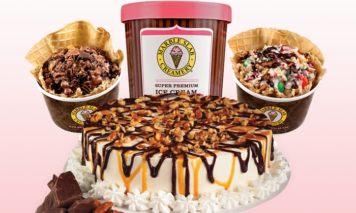 Marble Slab Creamery - 4937 Belt Line Road - Addison: $7 for Two Medium Ice Creams with Unlimited Mix-Ins at Marble Slab Creamery ($11.30 Value)