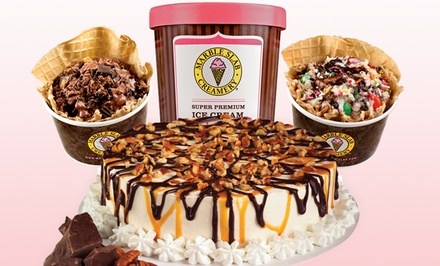 Two Medium Ice Creams, Ice Cream Cake, or $12 for $20 Worth of Frozen Treats at Marble Slab Creamery