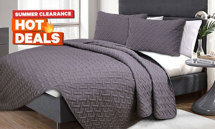 Three-Piece Embossed Comforter Set: Queen ($35) or King ($45) (Don't Pay up to $129)