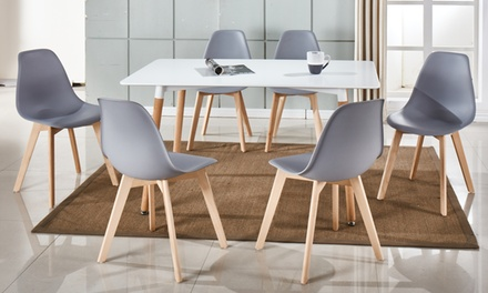 lot de chaises scandinaves trayl groupon. Black Bedroom Furniture Sets. Home Design Ideas