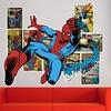 3D-Effect Superhero Wall Decals