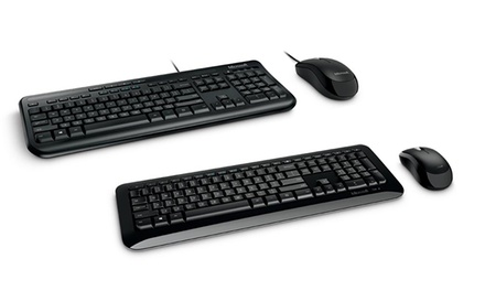 Microsoft Desktop Mouse and Keyboard Combo: Wired $29 or Wireless $39