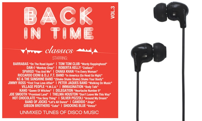 Groupon Goods Global GmbH: Auricolari Pioneer C501T-K e doppio CD 'Back in time Classics Vol.3' a 19,90 € con spedizione gratuita