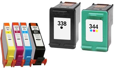 Cartouches dencre compatibles pour imprimantes HP séries 364/338/343