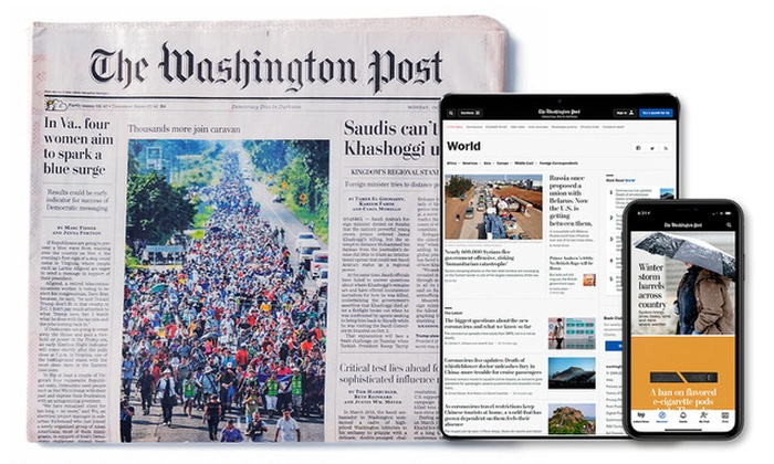 6 Month Or One Year Subscription The Washington Post Groupon