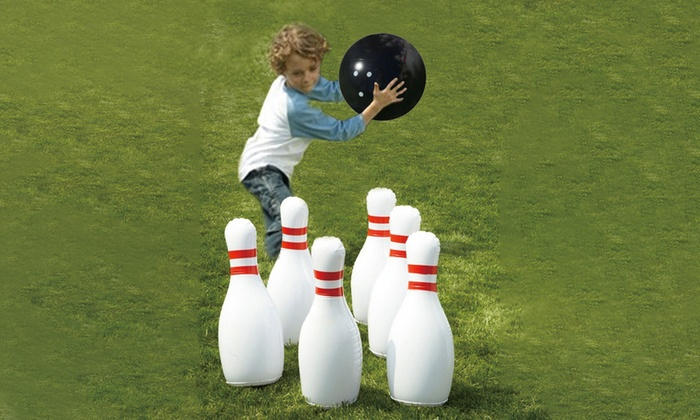 Giant garden bowling game groupon goods for Gardening 4 less groupon