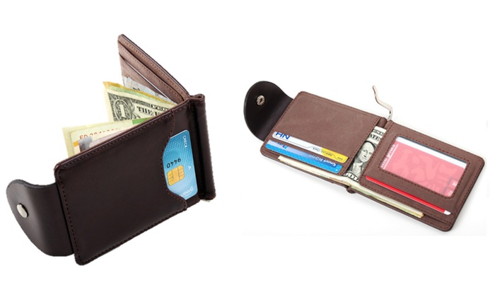 Groupon Goods: 2-in-1 Men's Money Clip Wallet (Shipping Included)
