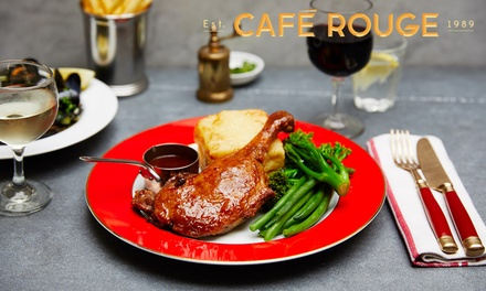 Two- or Three-Course Meal for Two at Caf© Rouge, Nationwide (Up to 58% Off) (Merchandising (UK))
