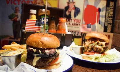 image for Burger, Fries and Cocktail Each for Two or Four at Propaganda (Up to 57% Off)